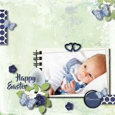 layout using Happy Easter Paper Mini: Pack 1 by florju designs