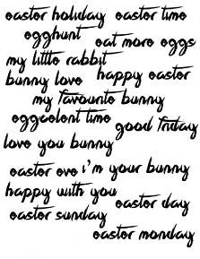 Family Easter Collection WordArt by Aftermidnight Design