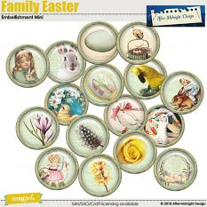 Family Easter Embellishment Mini Brads by Aftermidnight Design