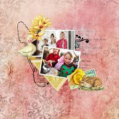 Layout by Marie Orsini using Family Easter Collection and Family Easter Embellishment Brushes by Aftermidnight Design
