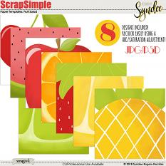 Fruit Salad digital papers and templates