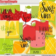 Fruit Salad printable cards and templates