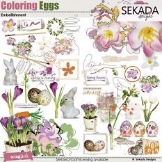Coloring Eggs Embellishment