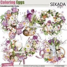 Coloring Eggs Embellishment Mini Cluster