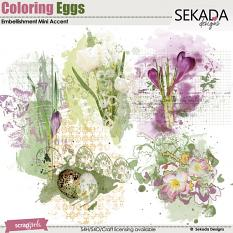 Coloring Eggs Embellishment Mini Accent