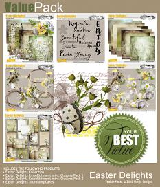 layout using Easter Delight Pocket Life by florju designs