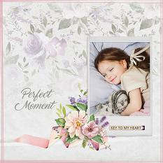 """Perfect Moment"" digital scrapbook layout by Judy Webster"