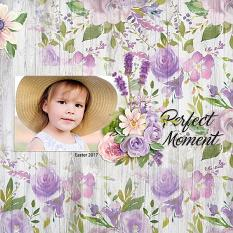 """Perfect Moment"" digital scrapbook layout by Andrea Hutton"