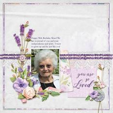 """You are so Loved"" digital scrapbook layout by Amy Flanagan"