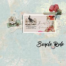 """""""Bicycle Ride"""" digital scrapbook layout by Sondra Cook"""