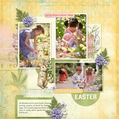 layout by Judy using Easter Eggstravaganza by Dagi's Temp-tations