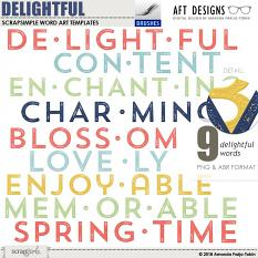 Value Pack: Delightful by AFT Designs - Amanda Fraijo-Tobin @ScrapGirls.com