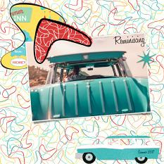 Scrapbook layout using Kitschy Summer Custom Layer styles