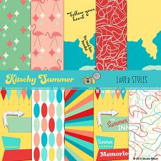 Kitschy Summer Custom Layer styles Close up