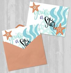 Card created using Starfish Wishes Embellishment Templates & Clip art