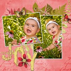 Digital scrapbooking layout by Syndee Nuckles (See supply list with links below)