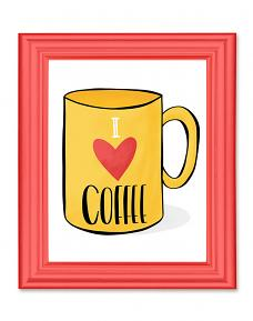 Framed I Love Coffee Printable Wall Art