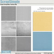 ScrapSimple Paper Templates: Texture Mix