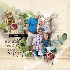 layout using First Spring Embellishment Mini : Cluster Pack 2 by florju designs