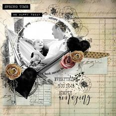 layout using layout using First Spring Word Art and Word Tag by florju designs by Florju designs