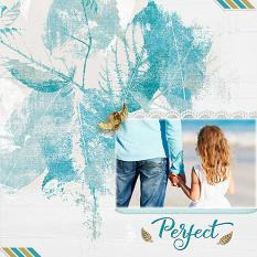 """Perfect"" digital scrapbook layout by Judy Webster"