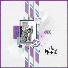 """This Moment"" digital scrapbook layout by Geraldine Touitou"