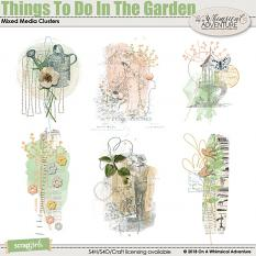 Things To Do In The Garden Mixed Media Clusters by On A Whimsical Adventure