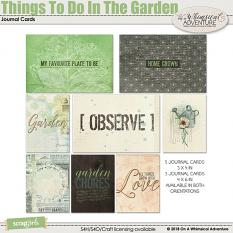 Things To Do In The Garden Journal Cards by On A Whimsical Adventure