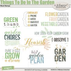 Things To Do In The Garden Word Stamps by On A Whimsical Adventure