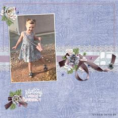 """Addison"" digital scrapbook layout by Andrea Hutton"