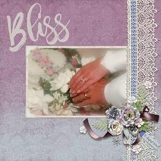 """Bliss"" digital scrapbook layout by April Martell"