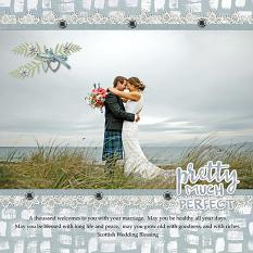 """Pretty Much Perfect"" digital scrapbook layout by Judy Webster"