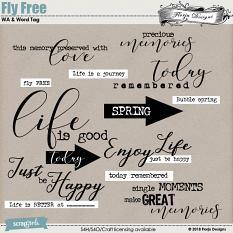 Fly Free Word Art by Florju Designs