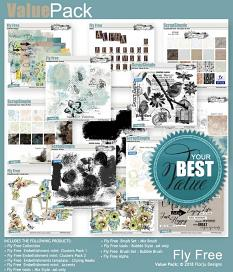 layout using Fly Free Word Art by Florju Designs