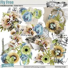 Fly Free Embellishment Mini: Cluster Pack 2 by Florju Designs