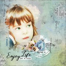 layout using Fly Free Embellishment Mini: Cluster Pack 2 by Florju Designs