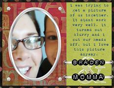 "Digital Scrapbooking Layout ""Braden and Momm"" by Amanda S (see supply list with links below)"