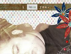 "Digital Scrapbooking Layout ""I Love You"" by Amanda S (see supply list with links below)"