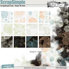 ScrapSimple Tools - Bubble Styles: Fly Free by florju designs