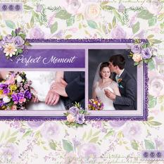 """Perfect Moment"" digital scrapbook layout by Sue Maravelas"