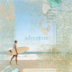 """Adventure"" beach #digitalscrapbooking layout by Amanda Fraijo-Tobin - AFT Designs @ ScrapGirls.com"