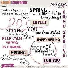 Smell Lavender Word Art