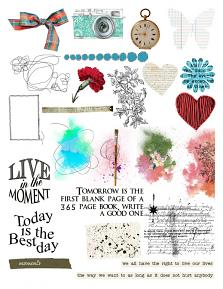 Live in the moment, Sheet by Aftermidnight Design