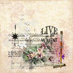 Layout by Debby Leonard using Live in the moment by Aftermidnight Design