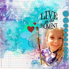 Layout by Shannon Trombley using Live in the moment by Aftermidnight Design