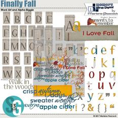 Finally Fall Word Art Alpha