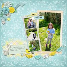 """""""Happy Together"""" digital scrapbook layout by April Martell"""