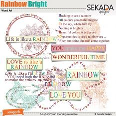 Rainbow Bright Word Art