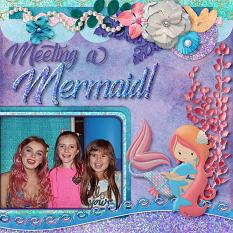 Meeting a Mermaid digital scrapbook layout by Laura Louie