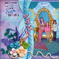 A Million Fish digital scrapbook layout by Laura Louie